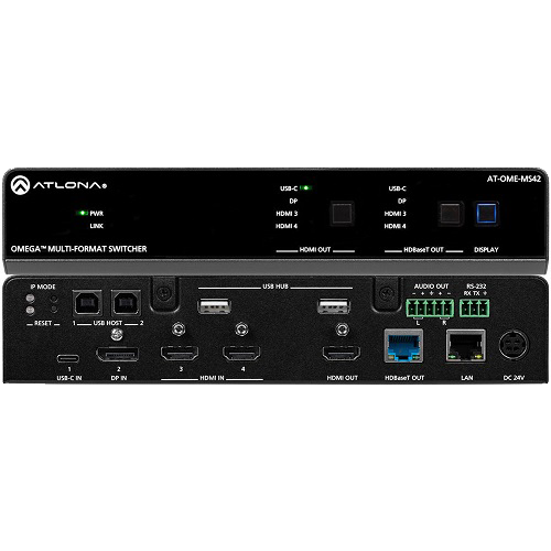 AT OME MS42 - 4×2 Matrix Switcher with USB